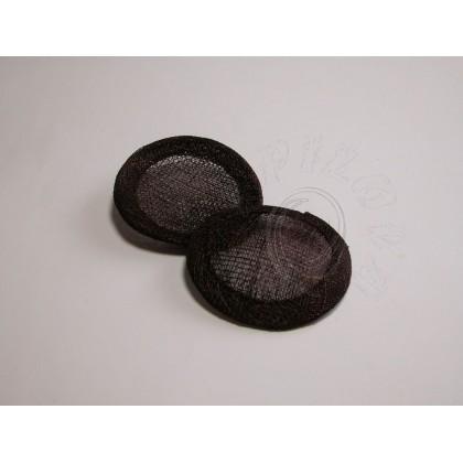8 cm fascinátor černá