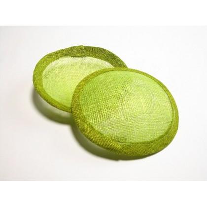 Fascinátor základ velký 12 cm zelená jarní