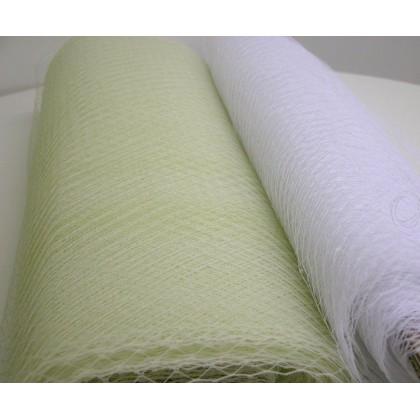 Francouzský závoj bílá jasná šíře 46,5cm/ d 50cm