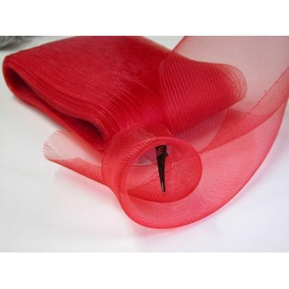 modistická krinolína 16cm/0,5m červená