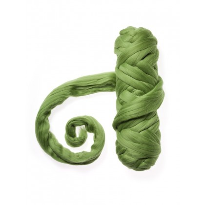 NUNO merino zelená jarní  světlá II .  č.177  20g