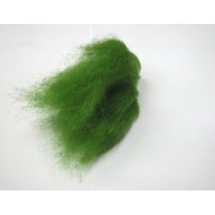 Mykaná vlna merino zelená jarní