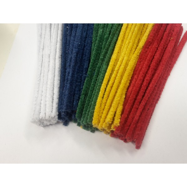 čističe dýmek barevné   - chlupaté drátky 100 ks